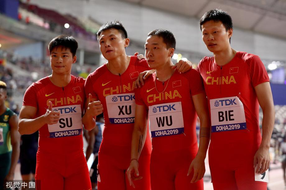[图]世锦赛4x100米接力:中国男队第6获奥运资格
