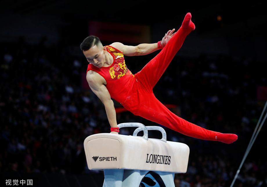 [图]世锦赛中国男团单杠失误痛失冠军 俄罗斯封王