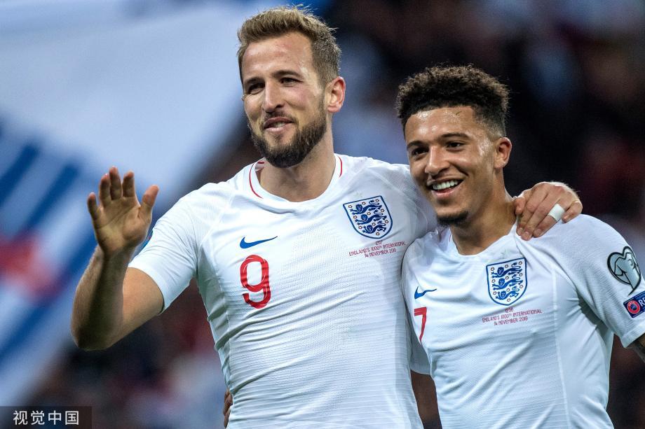 [图]欧预赛-凯恩3球 英格兰7-0大胜黑山出线