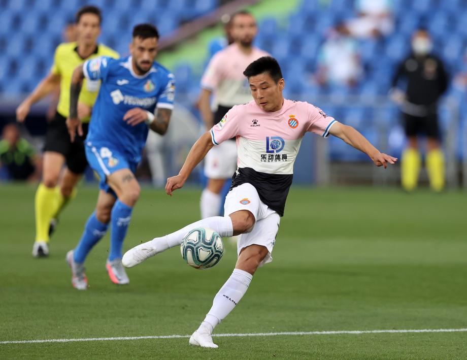西甲-武磊连续首发 十人西班牙人0-0逼平赫塔菲
