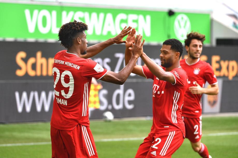 德甲-莱万穆勒破门屈桑斯世界波 拜仁4-0胜狼堡