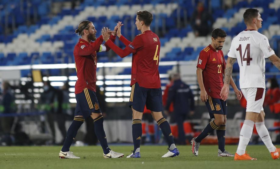 欧国联-扎卡送礼奥亚萨瓦尔制胜 西班牙1-0瑞士