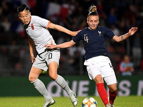 [女足]女足友谊赛:法国VS中国 上半场