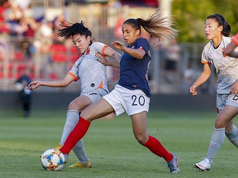 [女足]女足友谊赛:法国VS中国 下半场