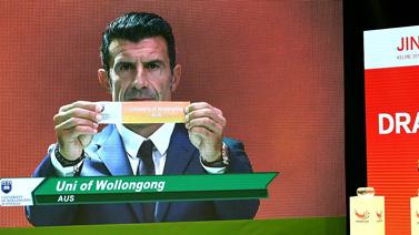 [图]国际大体联足球世界杯抽签仪式举行 菲戈出席