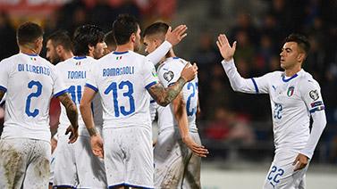 [图]欧预赛-沙拉维传射 意大利5-0追平连胜纪录