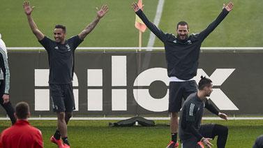 [圖]歐冠1/8決賽首回合前瞻 尤文圖斯訓練備戰
