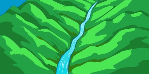 泥石流发生前常伴有山沟内流水阻断异常及轰鸣声△△△