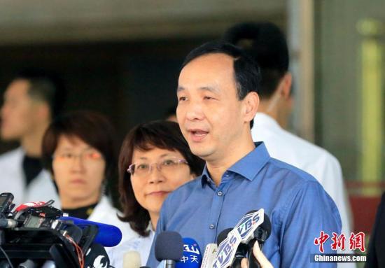 资料图:朱立伦。 中新社记者 陈小愿 摄