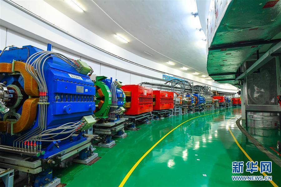 这是在广东东莞拍摄的中国散裂中子源快循环同步加速器(7月24日摄)。新华社记者 刘大伟 摄