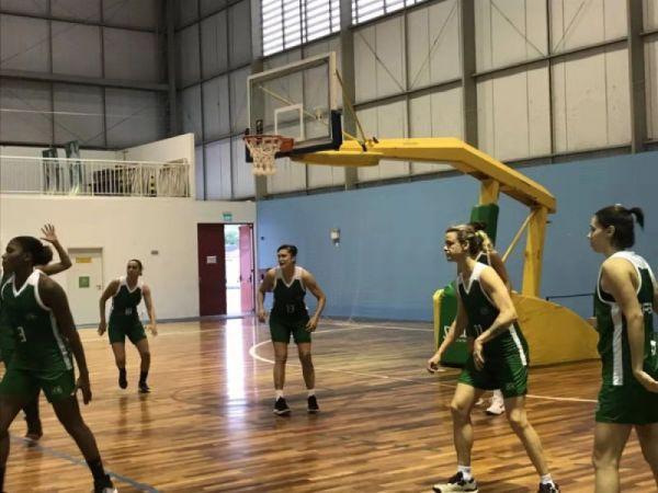 巴西代表团女篮比赛的队员们正在训练 新华社