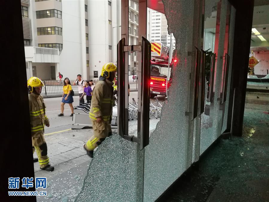 (新華網)(11)新華社亞太總分社辦公大樓遭暴徒打砸破壞