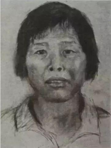 """警方根据供述,画出的嫌疑人""""梅姨""""画像"""