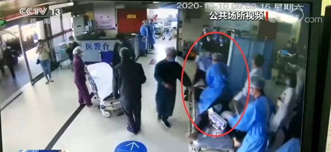 江苏南通一患者心脏骤停 护士紧急救援