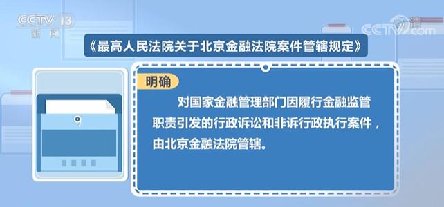 北京金融法院案件管辖规定发布 明确多项问题
