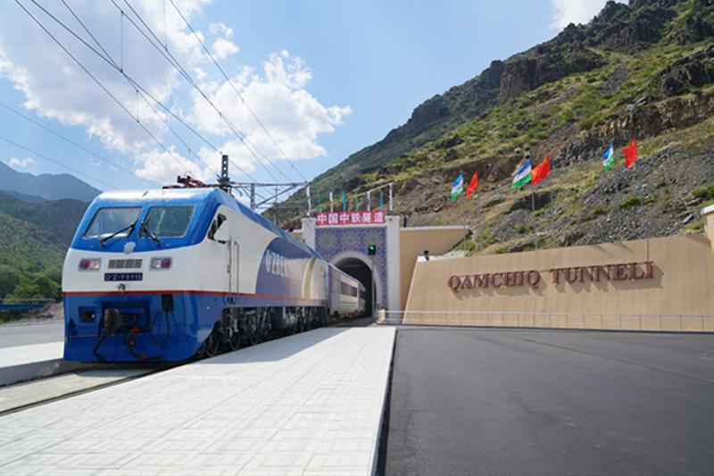 Qamchiq Tunnel of Anglian-Pap Electrified Railway, Uzbekistan