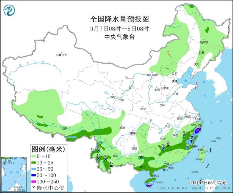 今明天 东北仍多雨水、华北多地气温创下半年来新低、南方高温缓解