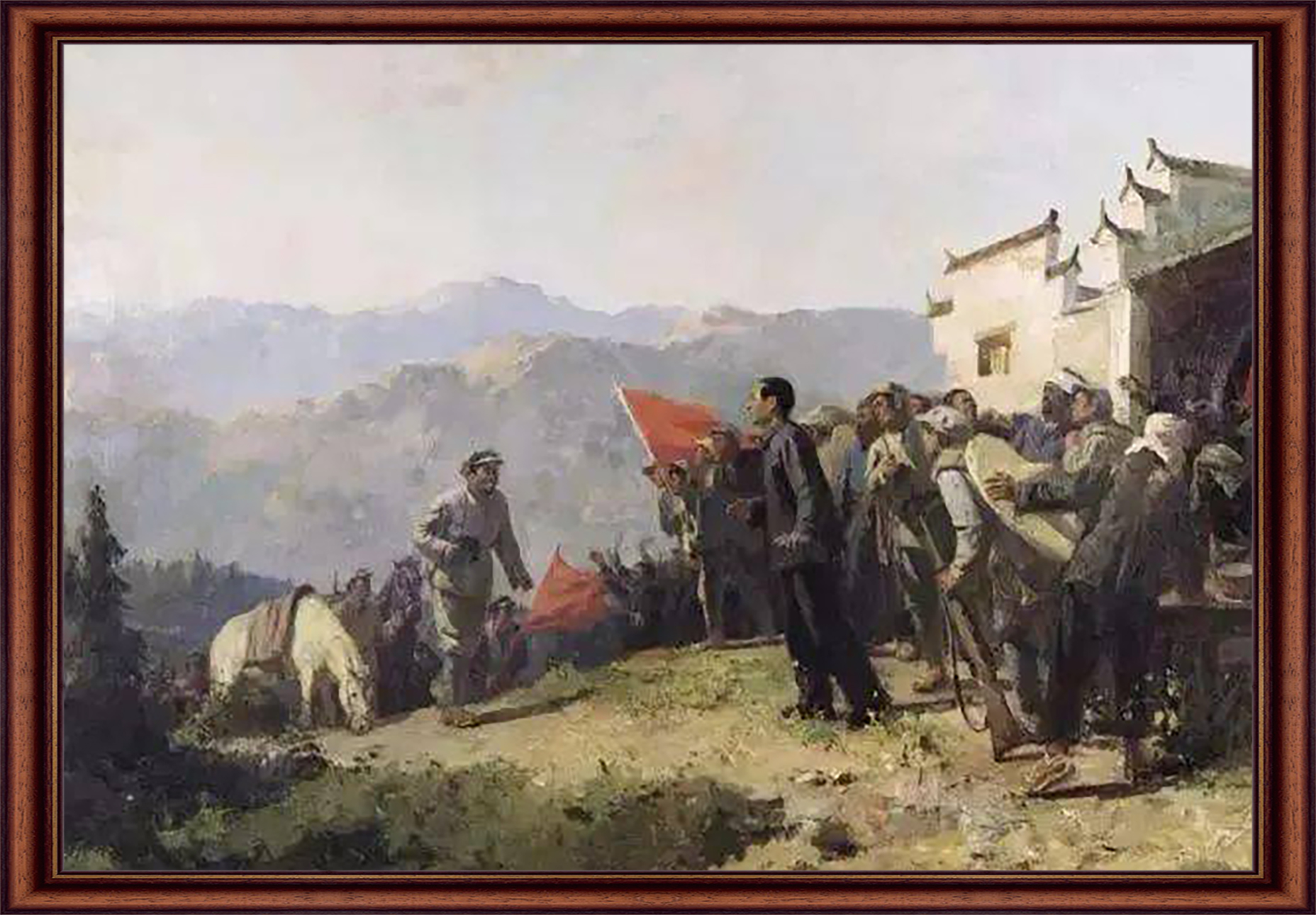 何孔德 《井冈山会师》 油画  1980年