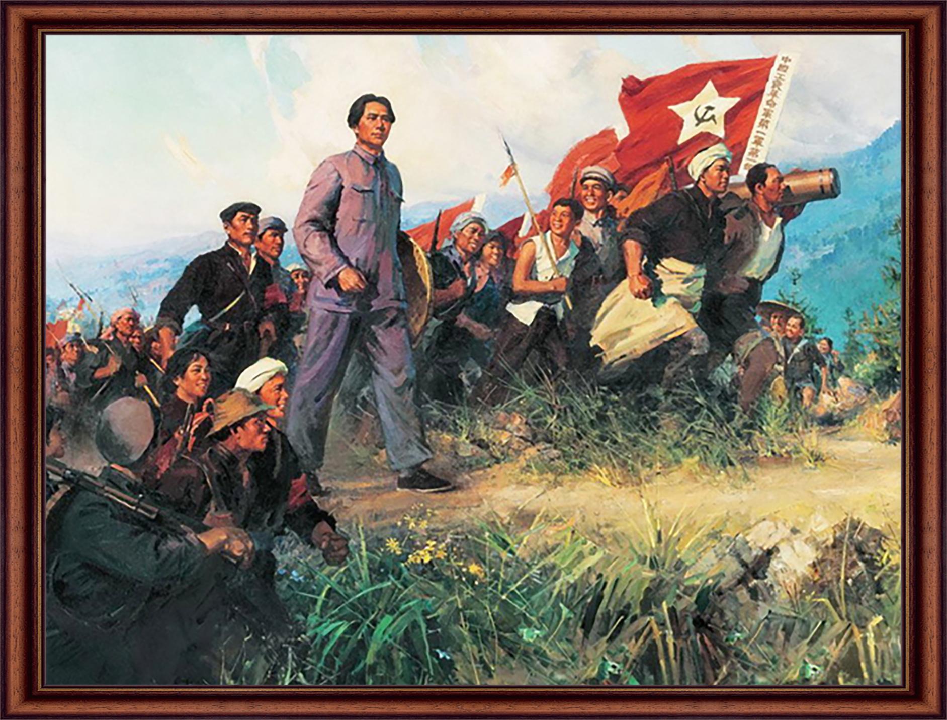 何孔德、高泉、冀晓秋、陈玉先  《秋收起义》 油画 1973年